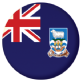 Falkland Islands Flag 25mm Flat Back